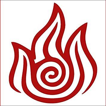 Amazon.com: CCI Fire Nation Avatar Decal Vinyl Sticker.