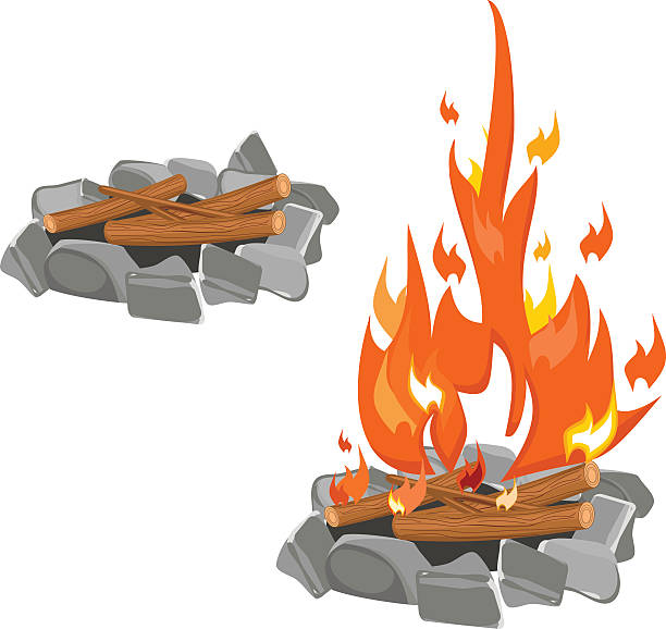 Fire Pit Illustrations, Royalty.