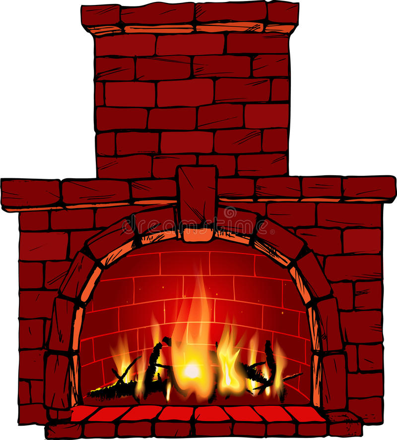 Fireplace Stock Illustrations.
