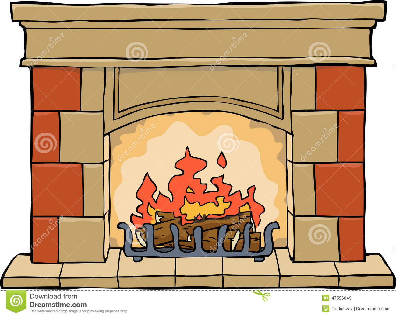 Open fireplace clipart - Clipground