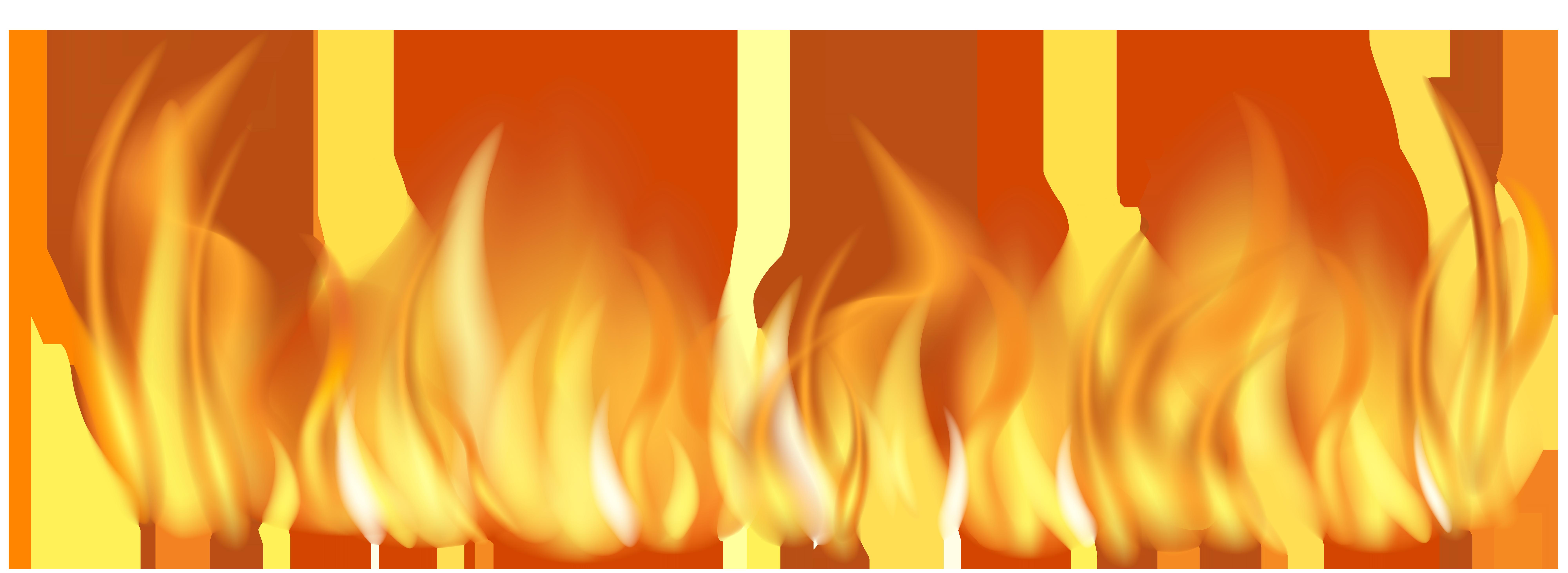 Fire Flames Line Transparent PNG Clip Art Image.