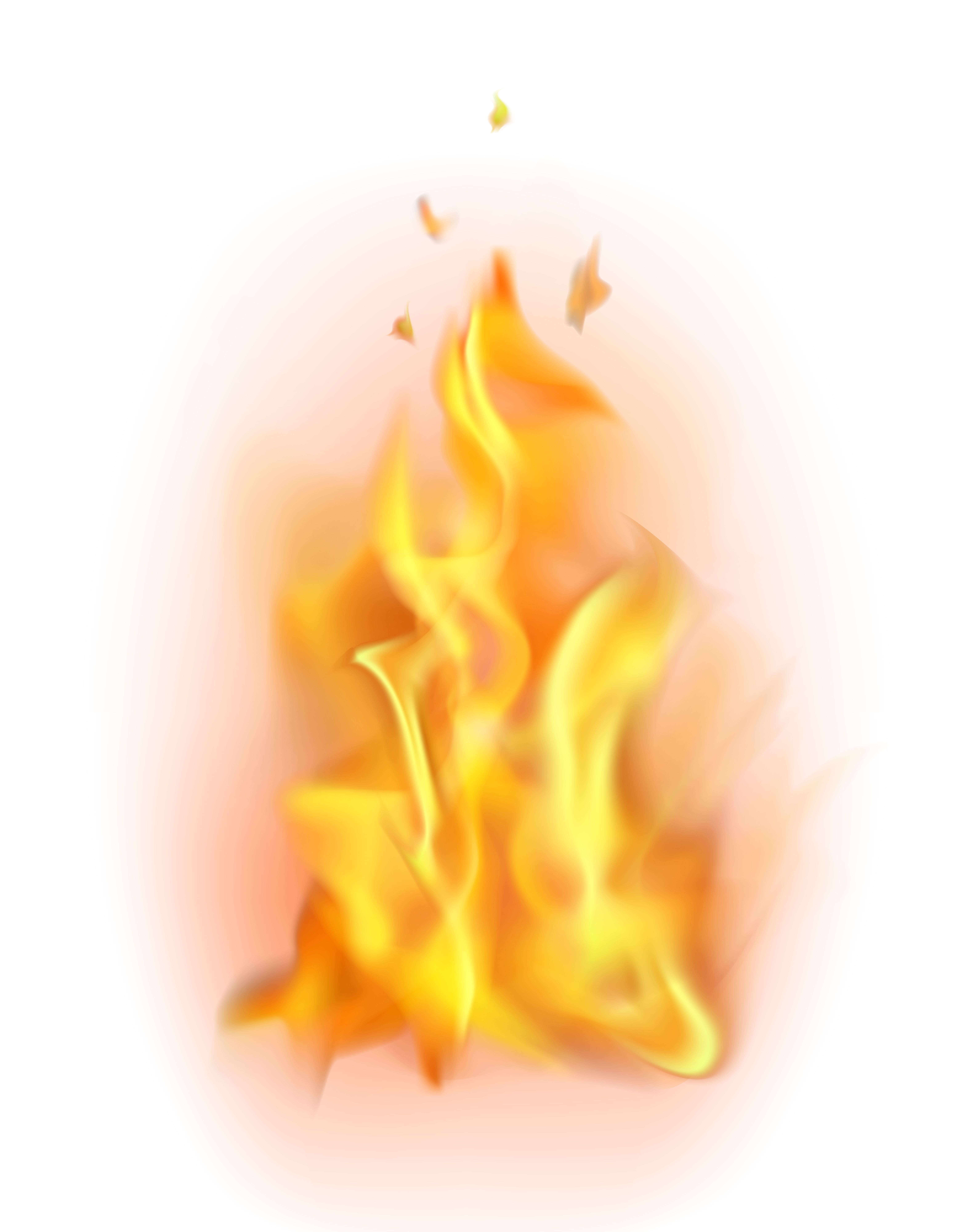 Fire Flame Transparent PNG Clip Art.