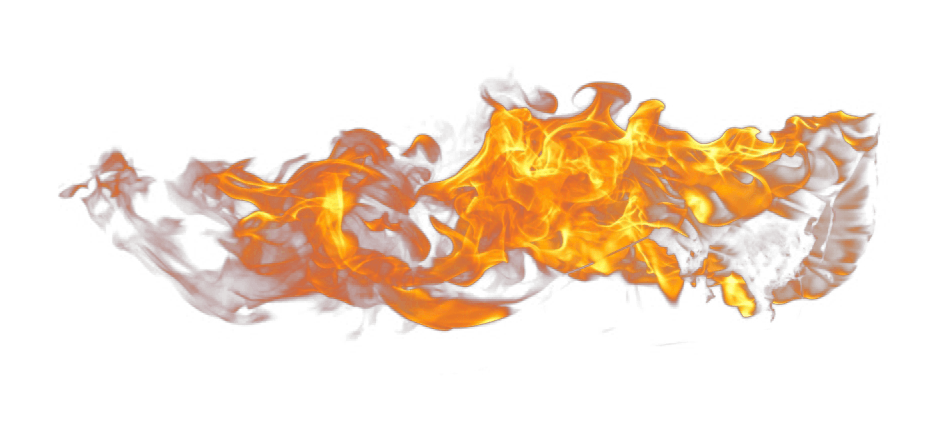 Fire Flames transparent PNG.