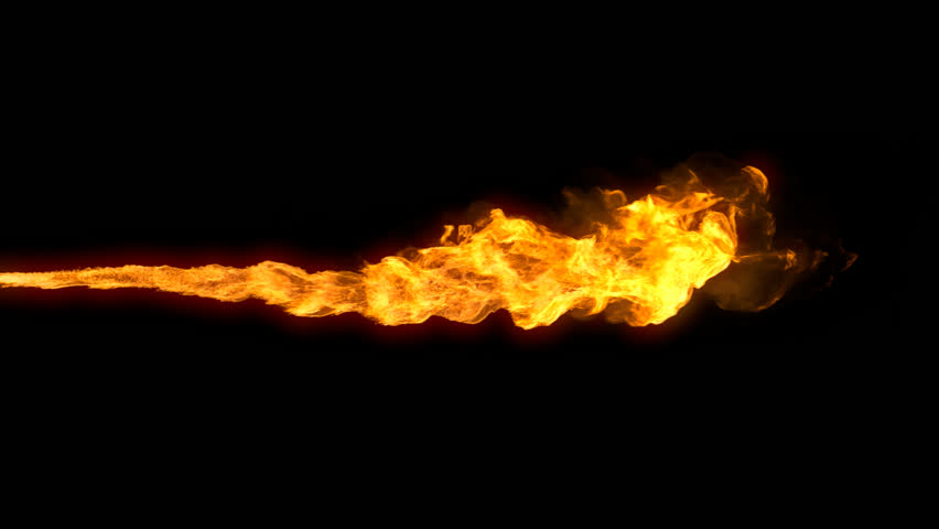 Animated Realistic Stream of Fire Stock Footage Video (100% Royalty.