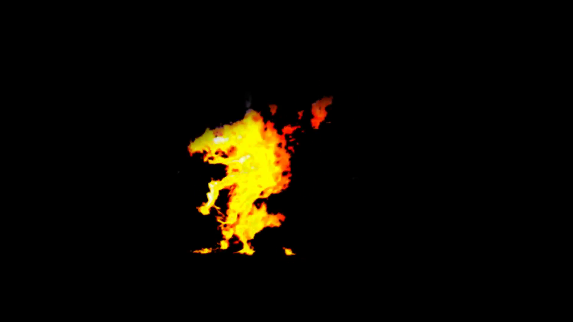 Man on Fire Effect + alpha Stock Video Footage.