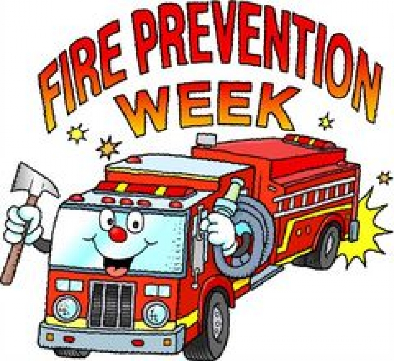 Fire Prevention Week drawing free image.
