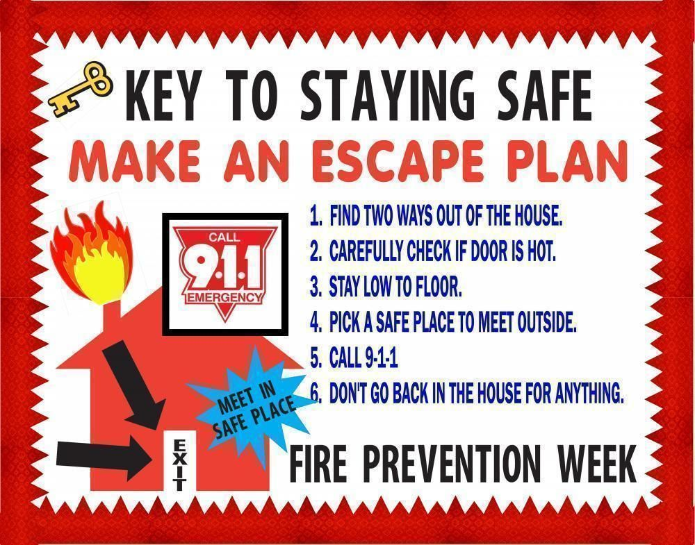 Make a Fire Prevention Week Poster.