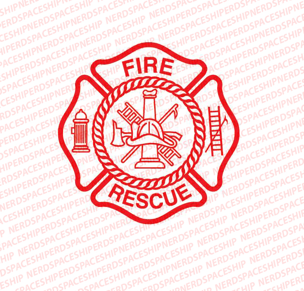 SVG Fire Dept logo svg. Fire Rescue svg. 4 separate files.