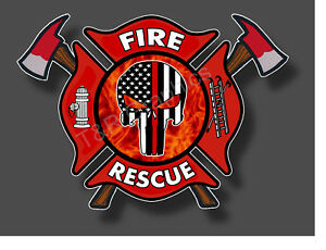 Details about Fire Department Punisher Fire Rescue Sticker Decal EMS EMT  911 Fire Fighter USA.