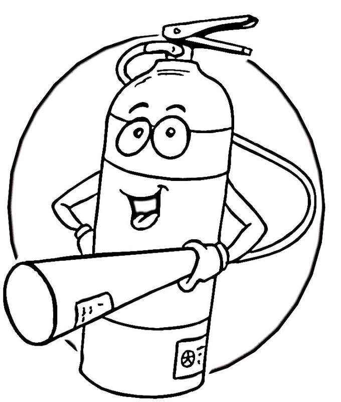 Fire Safety Clipart Black And White.
