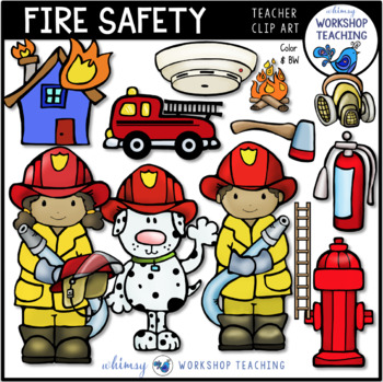 Fire Safety Awareness Clip Art.