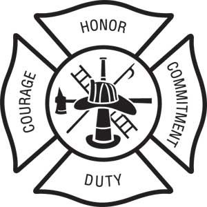 Fire department maltese cross clip art.