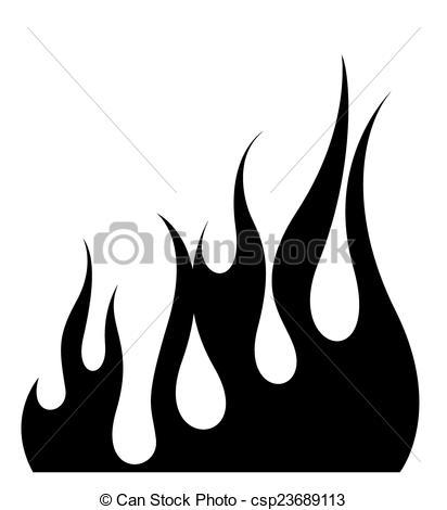 Fire Flame Elements Shape.