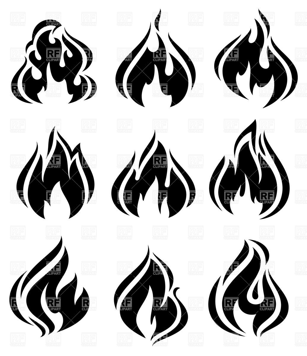 Symbolic fire and flames.