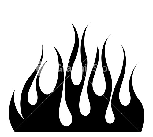 Fire Silhouette Stock Image.