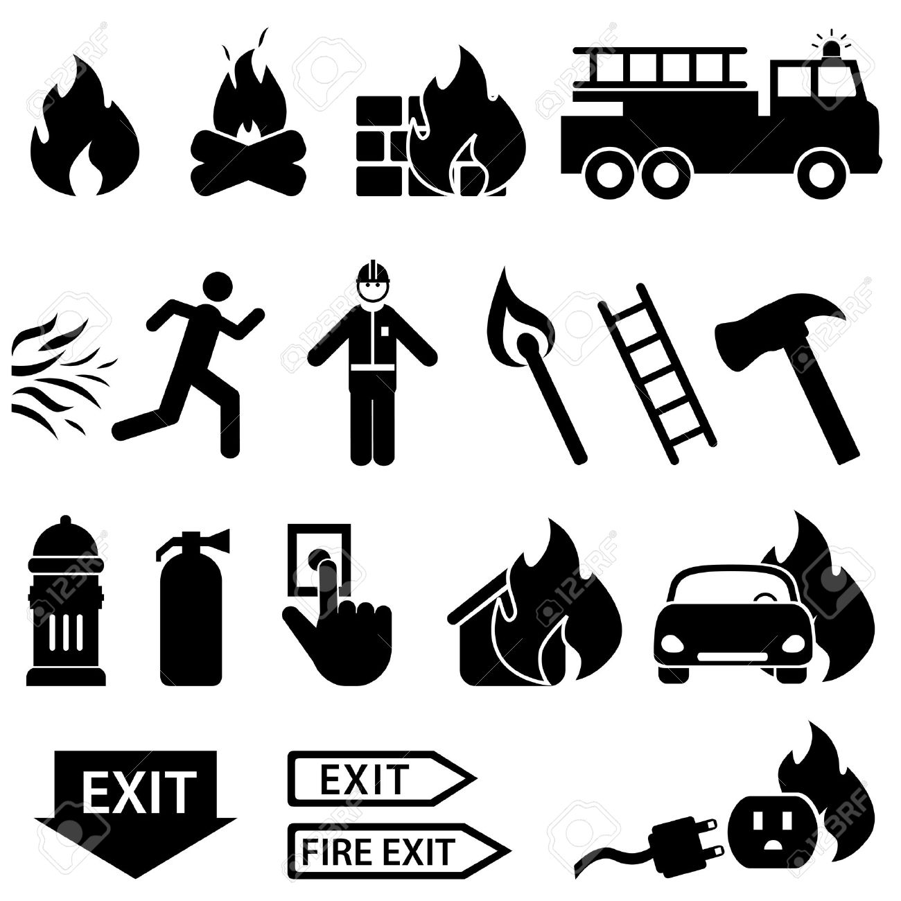 35,064 Fire Silhouette Stock Vector Illustration And Royalty Free.