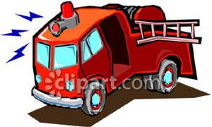 Fire truck siren clipart.