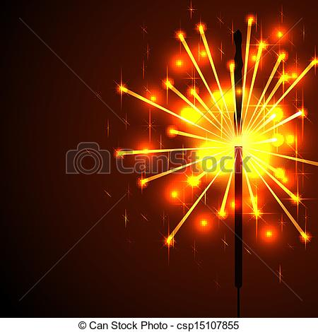 Clipart Vector of Bengal fire sparks vector background with copy.