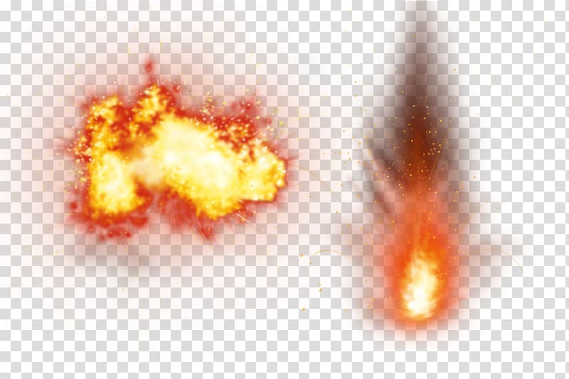 Smoke, fire, explosion, splash transparent background PNG.