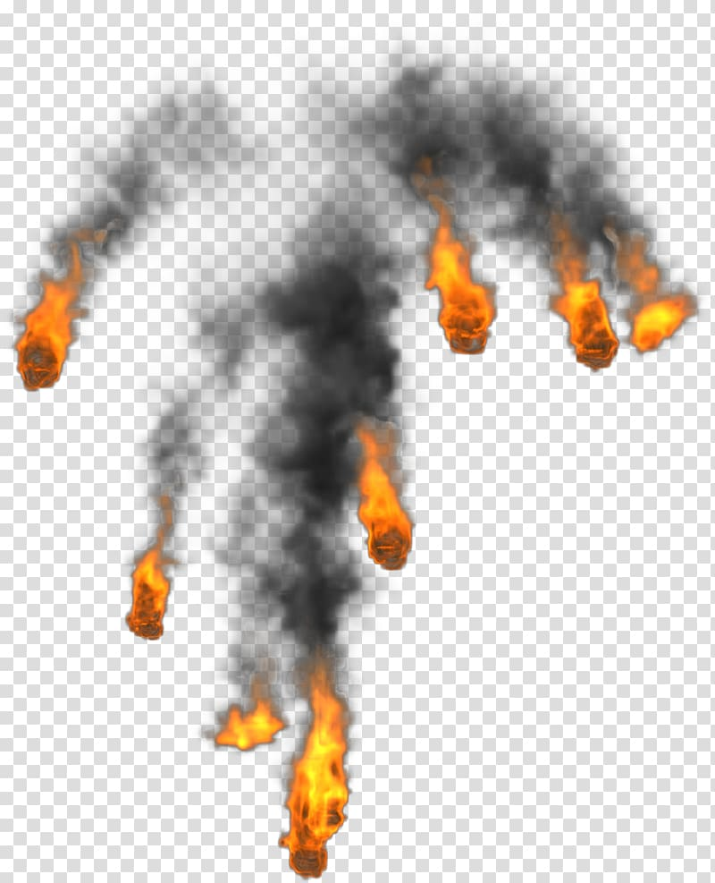 Fireballs illustration, Fire Smoke Flame, Splash of flames.