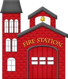 Fire Station Clipart.