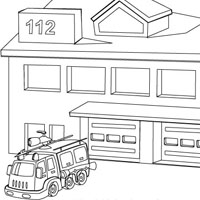 6 Images of Fire Station Coloring Pages.