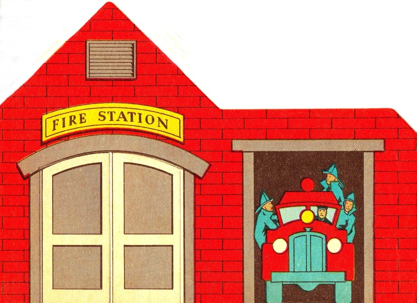 602 Fire Station free clipart.