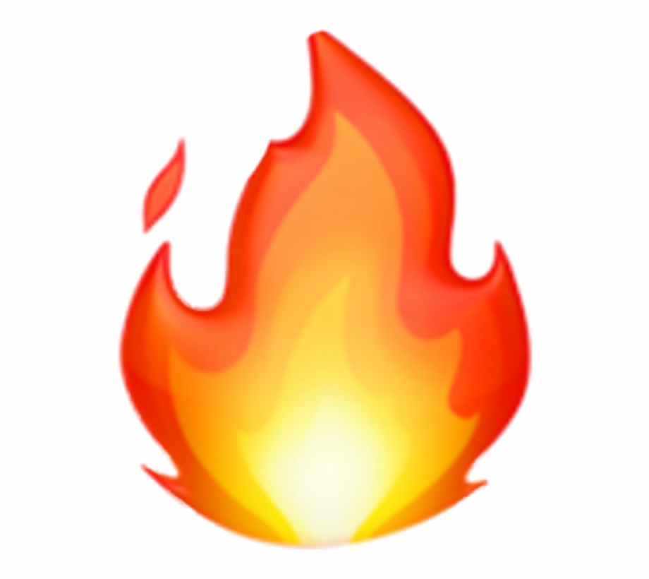 Fire Api Red Emoji Iphone Sticker Enquie Soft✨ Png.