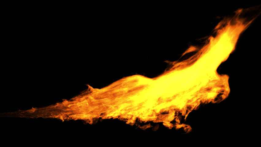 Loop Fire Rendered in Png Stock Footage Video (100% Royalty.
