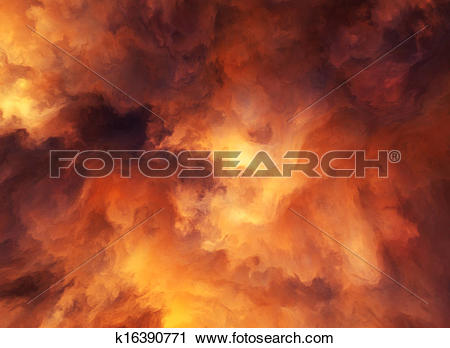 Clipart of Fire Storm k16390771.