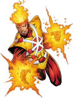Firestorm, the nuclear man. Capable of shifting electrons and.