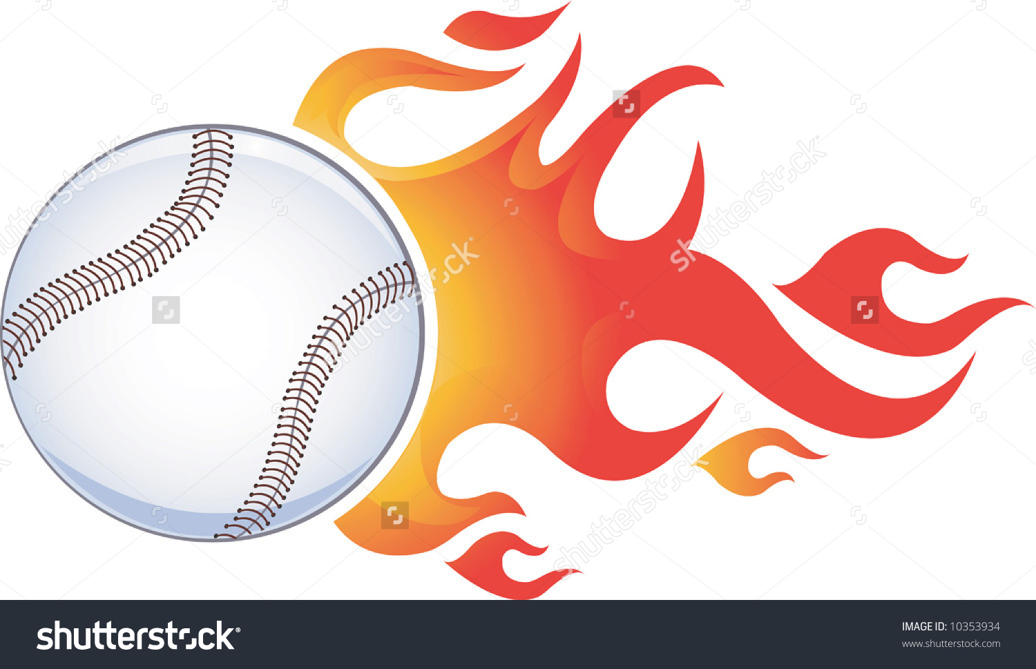 Tennis Ball Tail Fire On Move Stock Vector 10353934.
