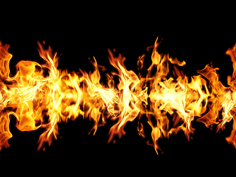 Seamless Fire Border Free Texture Background (Fire.