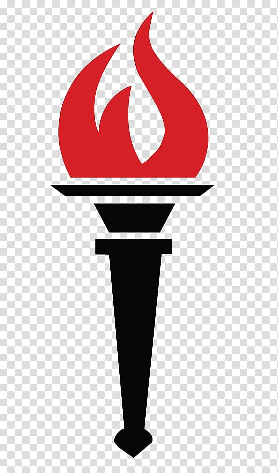 Black torch with red flame illustration, Torch Flame Fire.