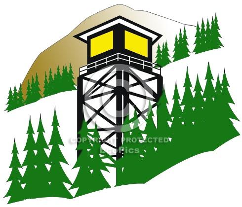 Fire Tower clip art.