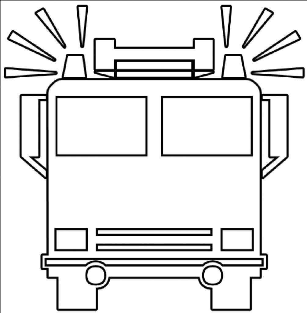 Fire truck black and white clipart 2 » Clipart Portal.