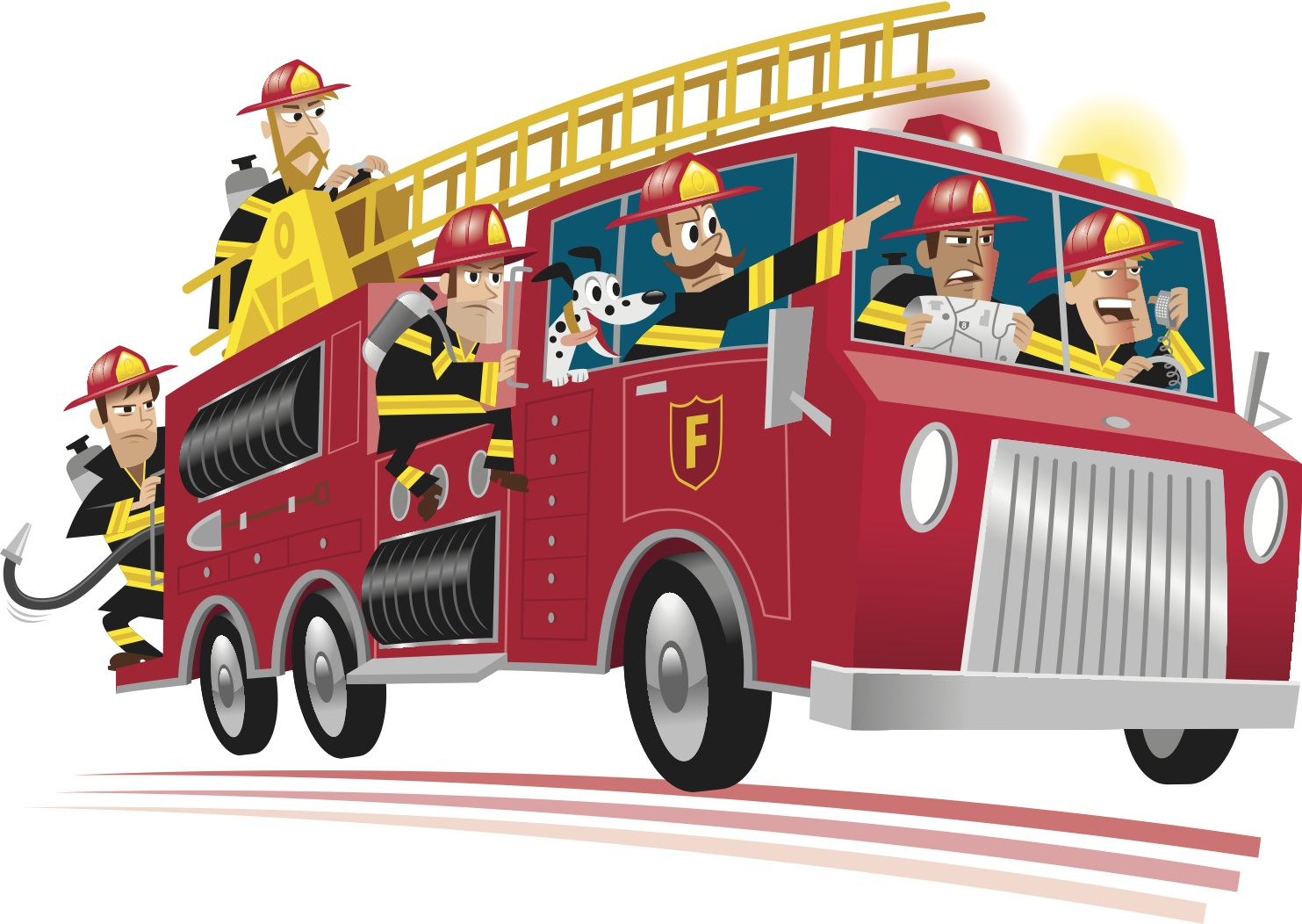 Vector fire truck clipart clipartcow 2.