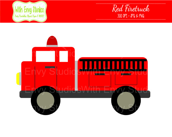 Fire truck clipart free images 6.