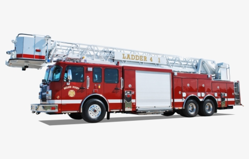 Free Fire Truck Ladder Clip Art with No Background.