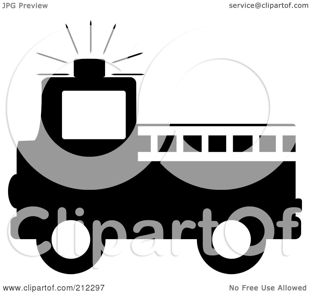 Fire Truck Outline Clip Art 50378.