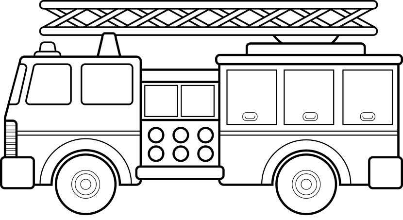 Free Black And White Fire Truck, Download Free Clip Art.