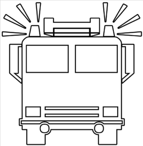 Fire Truck Outline Clip Art at Clker.com.