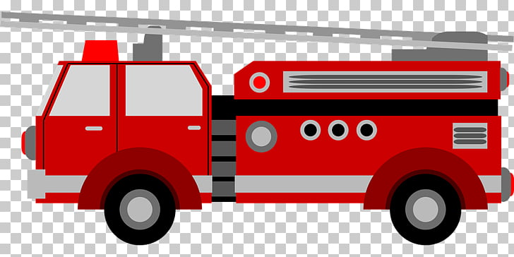 Fire truck PNG clipart.