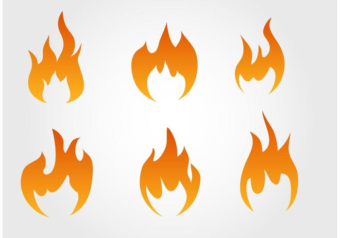 Collection of Fire Vectors.