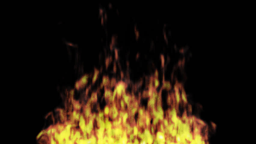 Animated Realistic Fire On Transparent Stock Footage Video (100%  Royalty.