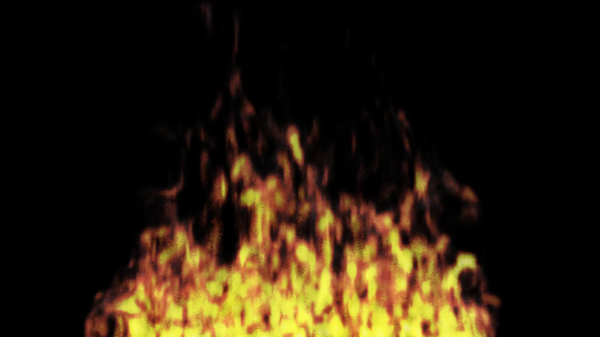 Animated realistic fire on transparent background 4 (Alpha channel embedded  with HD PNG file). Motion Background.