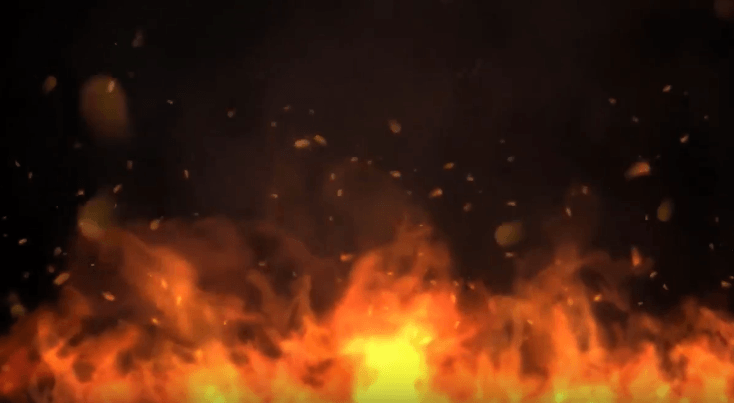 Fire Flames Video Background Loop Footage With Music.