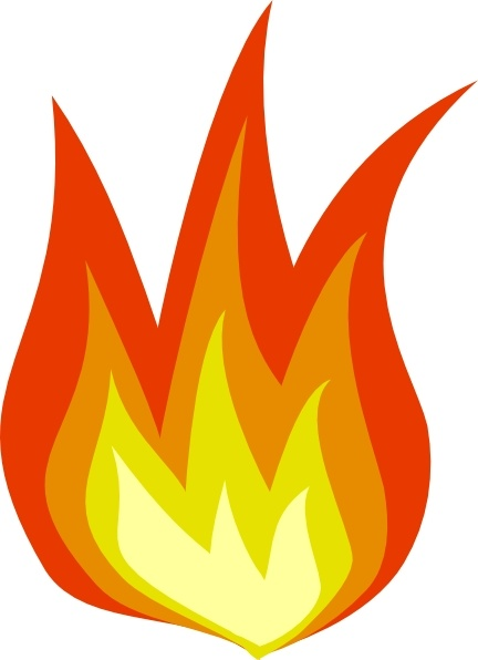Flame clip art Free vector in Open office drawing svg ( .svg.