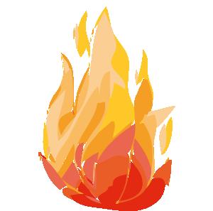 Fire Flames clip art Free Vector / 4Vector.
