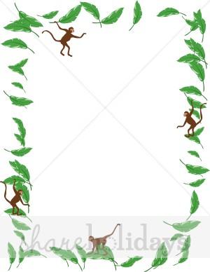 Jungle Theme Border Clipart.